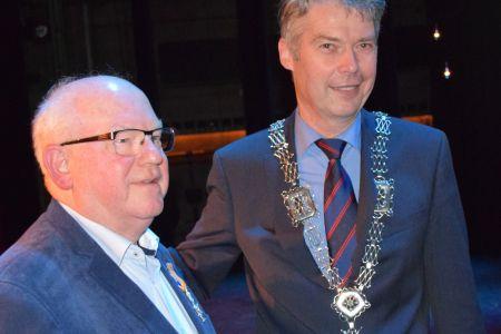 Burgemeester Gillisen met Henk de Klerk